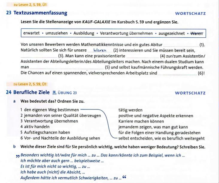 Vom Text zur Übung. Kollokationen in Lesetexten und ihre ...