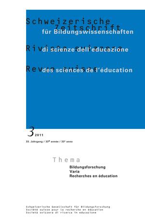 View Vol. 33 No. 3 (2011): Bildungsforschung (VARIA)