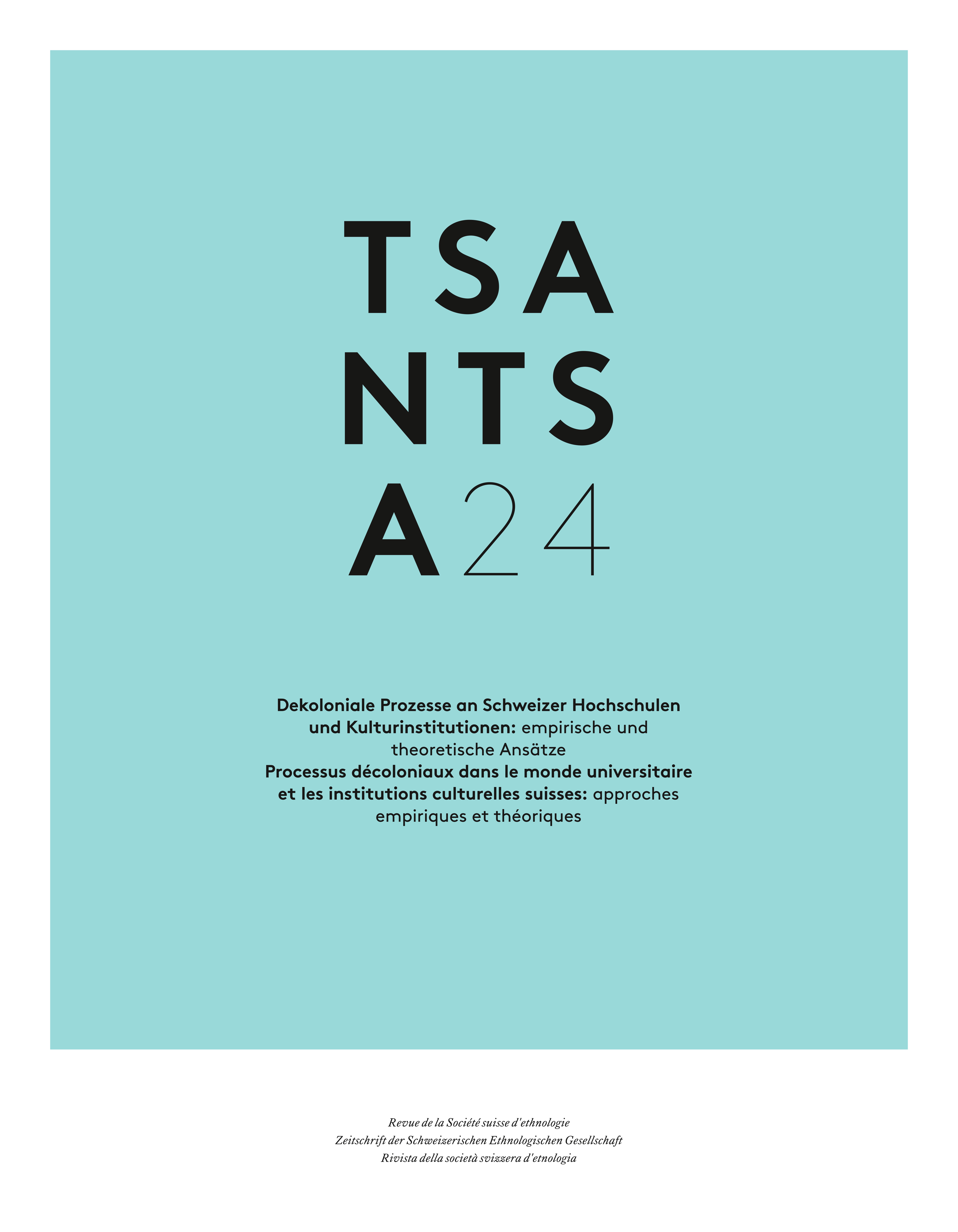 Cover TSANTSA anthropological journal year 2019